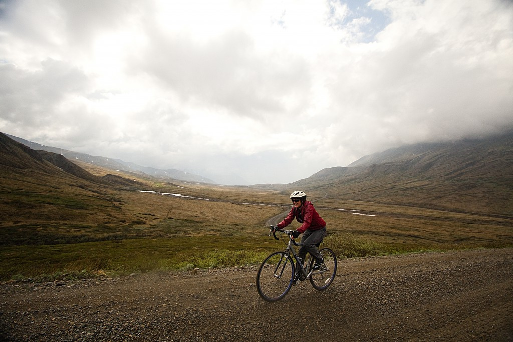 Bicycling in Denali National Park.